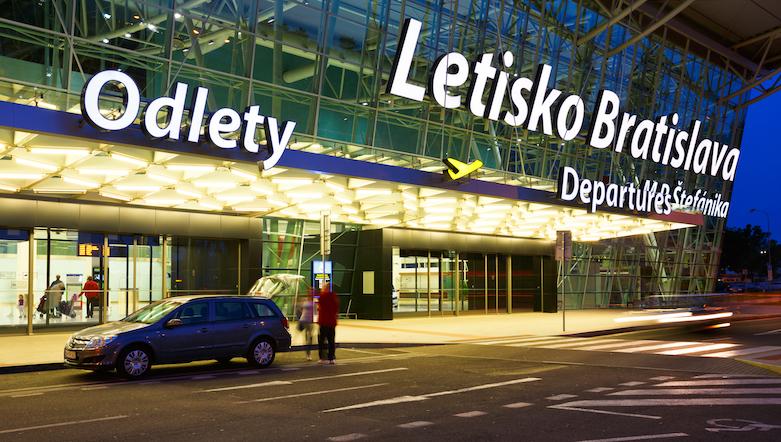 BRATISLAVA, SLOVAKIA - MAY 12 2015: Terminal building of the Bratislava airport in Slovakia on May 12 2015.