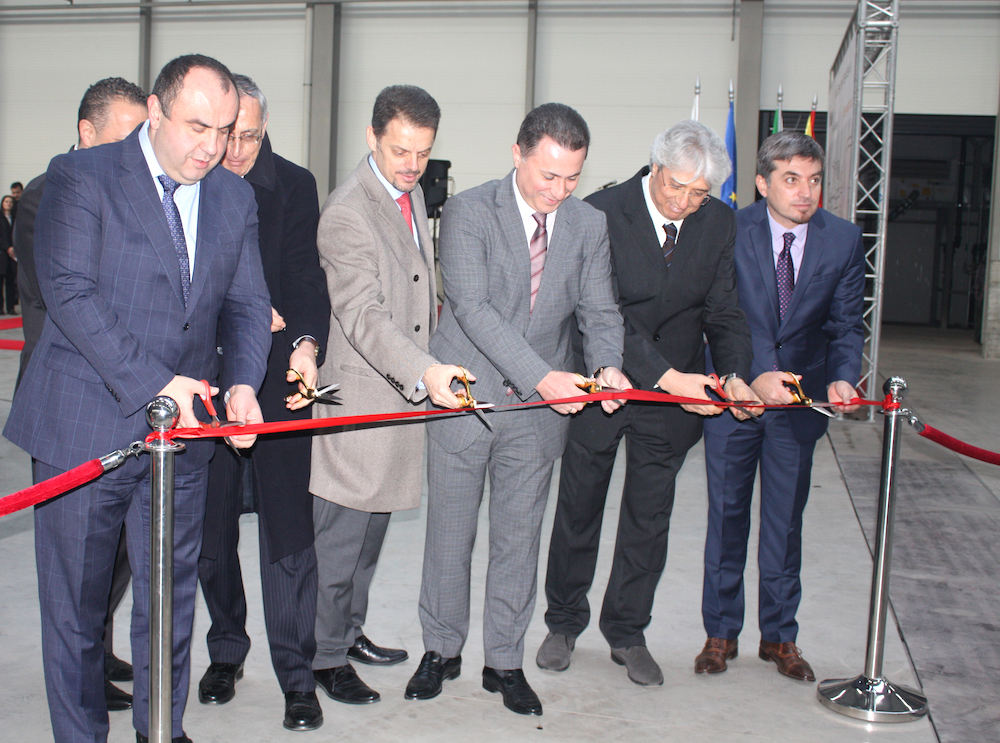 The official launch of the second stage of Vitillo Group's investment in Macedonia (courtesy of DTIDZ)