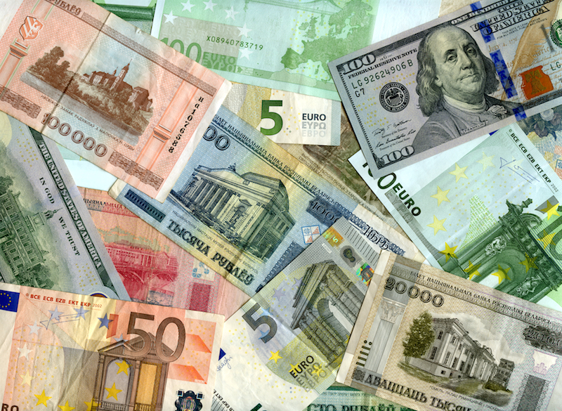 Euro Us Dollars And Belarus Rubles