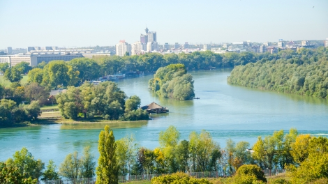Belgrade, Serbia - confluence of the Danube and Sava rivers