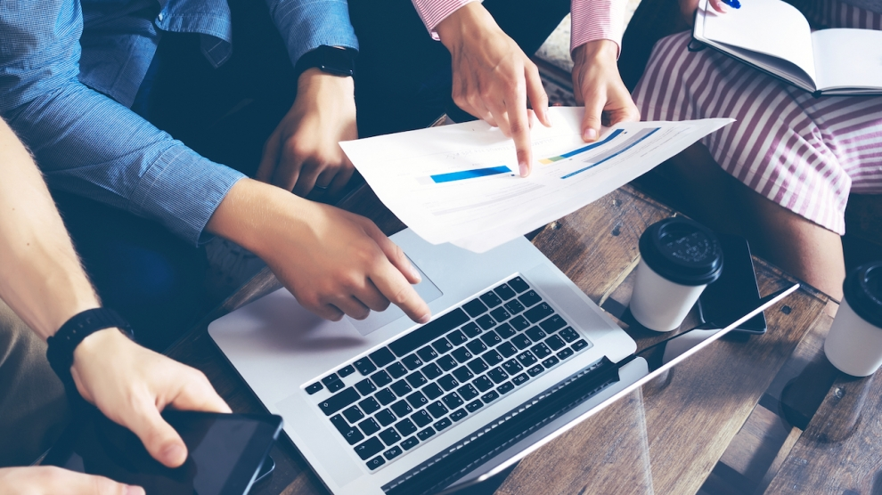 Startup Diversity Teamwork Brainstorming Meeting Concept