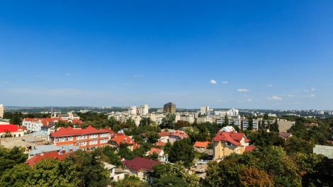 Aerial Landscape View Of Chisinau, Moldova