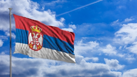 Serbian flag emerging europe