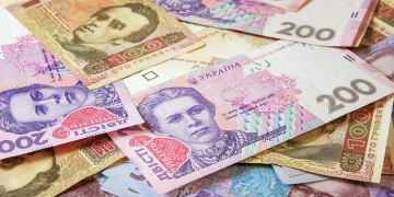 Ukrainian money hryvnia. The national currency. Corruption in Ukraine