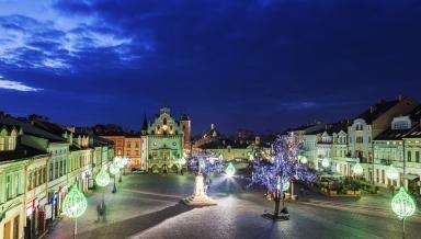 Rynek Glowny in Rzeszow. Rzeszow Podkarpackie Poland.
