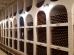 CRICOVA MOLDOVA July 24 2017 :Underground wine cellar with collection of bottles in niches. Winery with 120 km of underground passages for wine storage