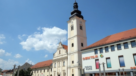 CAKOVEC, CROATIA - JULY 02: Parish Church of Saint Nicholas in Cakovec, Croatia, on July 02, 2016.