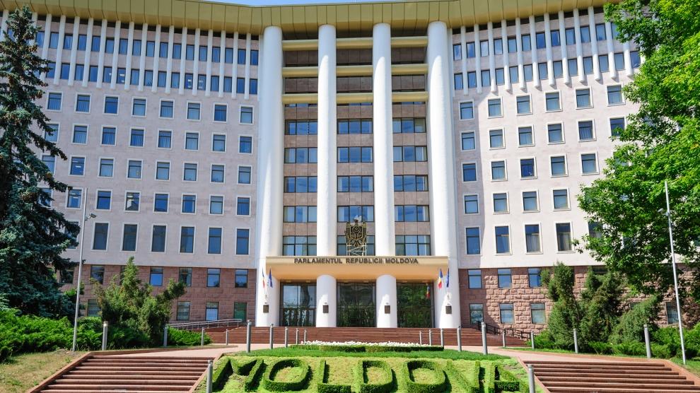 Chisinau, Republic of Moldova, Eastern Europe, 29th June 2017: view to the Parliament Building in Chisinau, Moldova