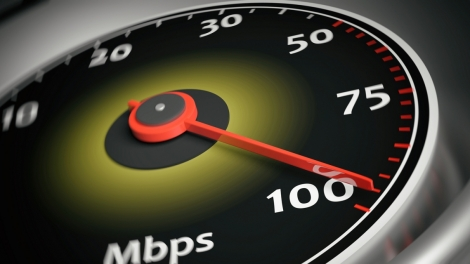 3d rendering internet speed meter close up