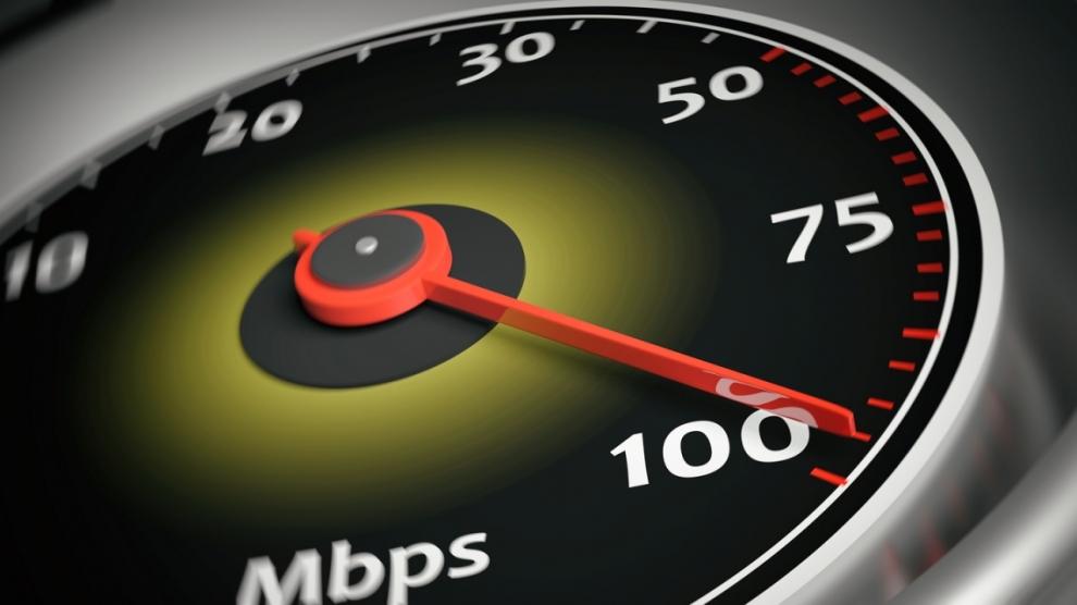3d rendering internet speed meter close up