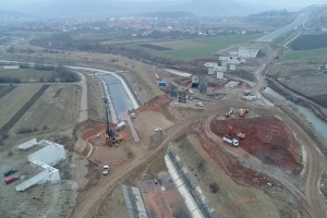 romania motorway under construction
