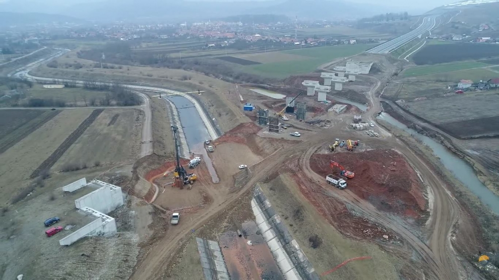 romania motorway under construction