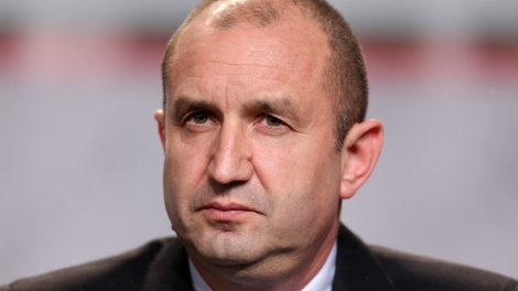 Sofia Bulgaria - November 13 2016: Bulgarian President-elect Rumen Radev speaks during a news conference after the presidential vote.