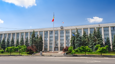 Chisinau, Republic of Moldova, Eastern Europe, 29th June 2017: view to the Gouvernment Building in Chisinau, Republic of Moldova