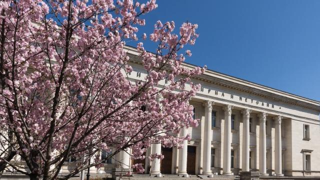 bulgaria national library spring