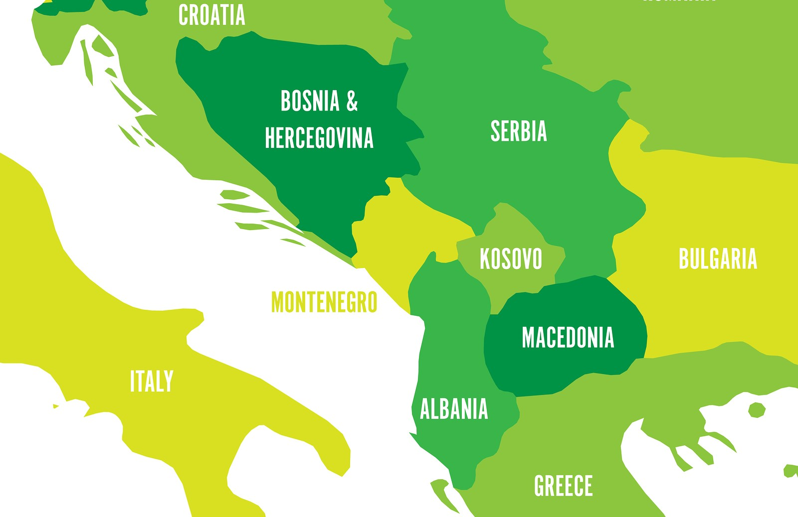 Bigstock Political Map Of Balkans Sta 243143068 Emerging Europe Intelligence Community News