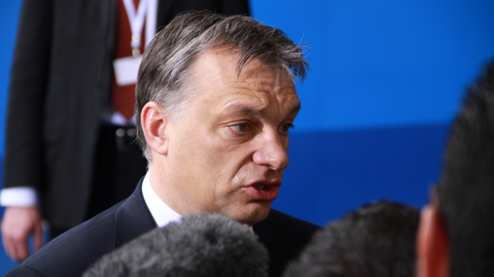 Hungarian PM vows to fight 'pro-immigrant' Macron