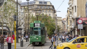 sofia, bulgaria, tram, people