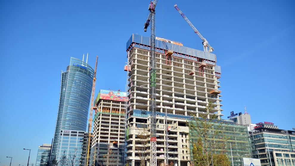 Warsaw construction site