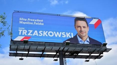 Rafał Trzaskowski poland presidential election campaign poster