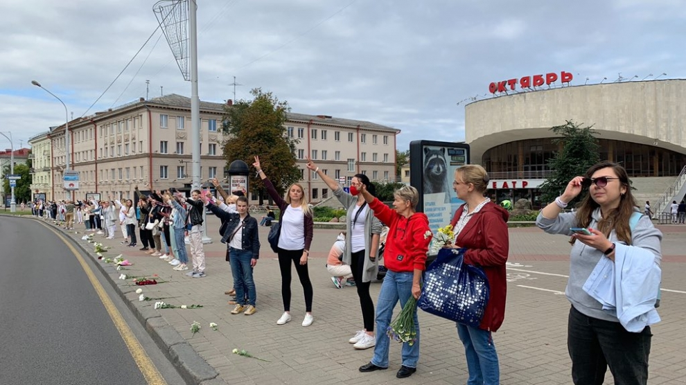Belarusian women call for an end to police violence
