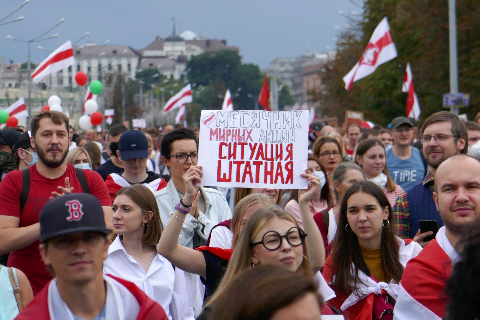 minsk belarus protest