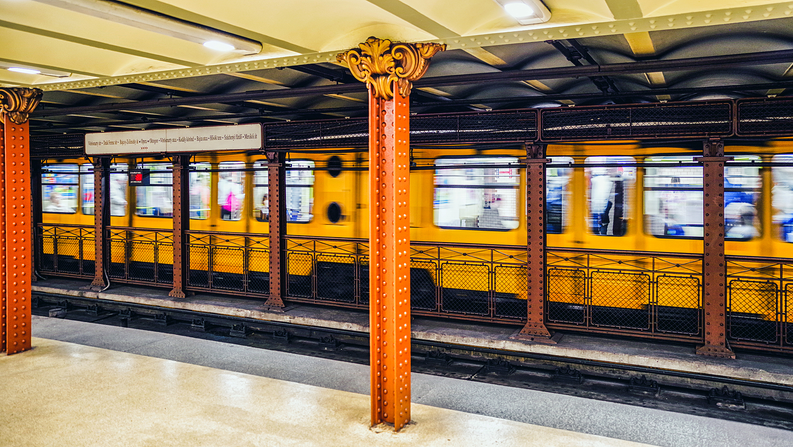 Budapest's M1 line is the oldest underground railway in continental Europe