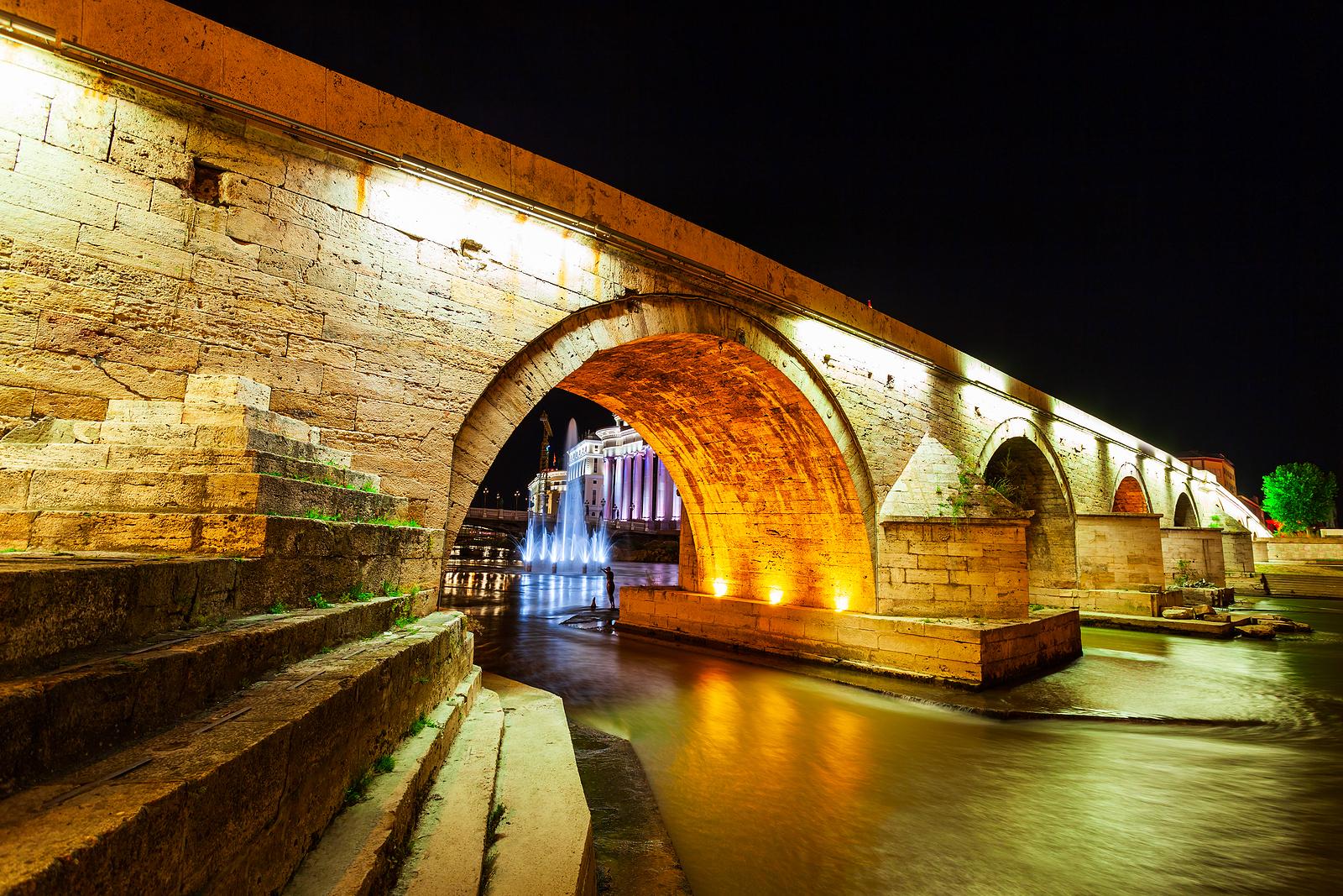 Skopje's Ottoman-era stone bridge