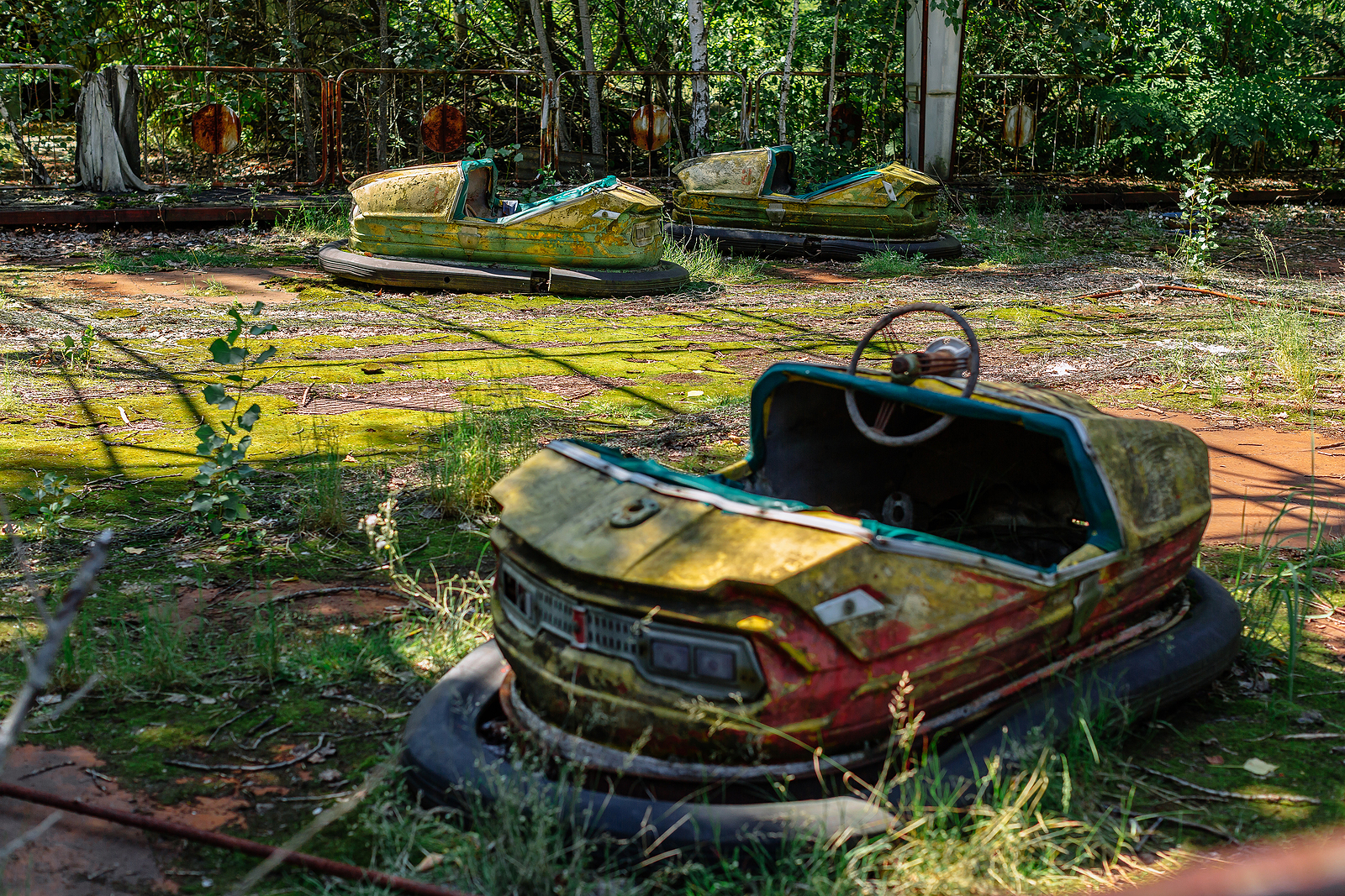 An abandoned amusement park in Pripyat