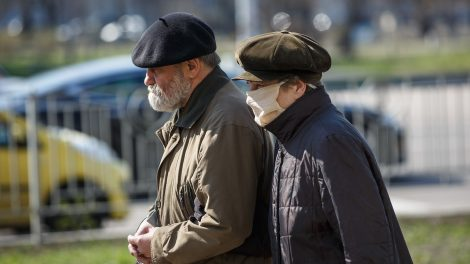 Two elderly residents of Kyiv, Ukraine
