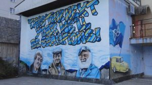 Only Fools and Horses graffiti in Rijeka, Croatia