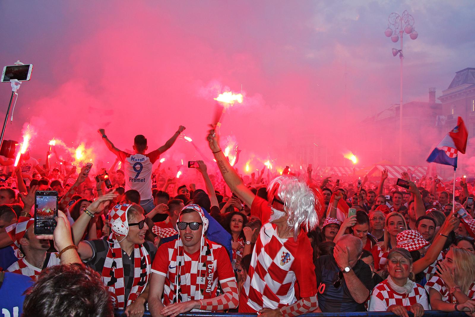 Croatia fans in 2018